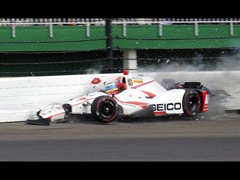 2017 Indy 500 Oualifying--Sebastian Bordais Horror Crash