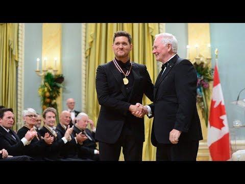 Emotional Michael Buble calls his kids inspiring in awards speech