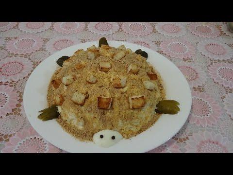 Торт «Черепаха» со сметаной — рецепт с фото пошагово