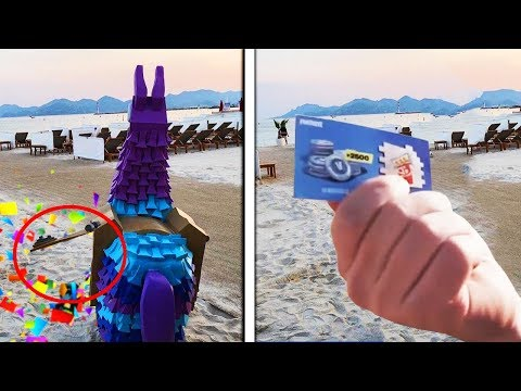 Opening The LOOT LLAMA In REAL LIFE.. (Fortnite Season 5)