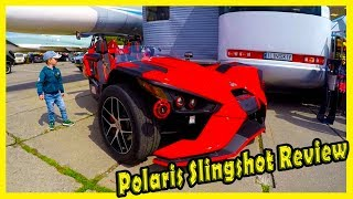 """Unusual Sportcars Polaris Slingshot Review. Strange Tricycle at Cars Show """"Old Car Land"""""""