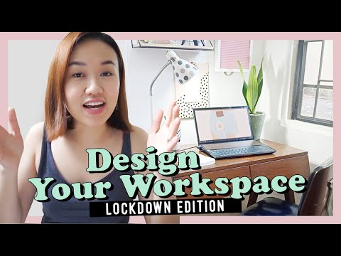 Work from Home Office Design // Lockdown Edition // by Elle Uy - YouTube