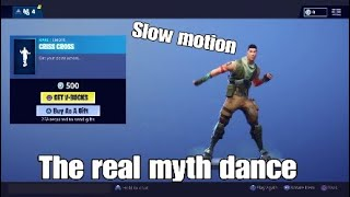 Criss cross emote in slow motion in fortnite (the real myth dance)
