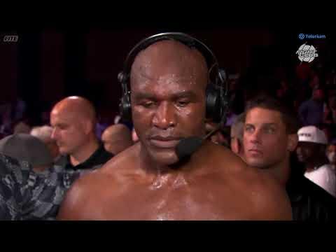 Evander Holyfield Post Fight Interview   Vitor Belfort VS Evander Holyfield