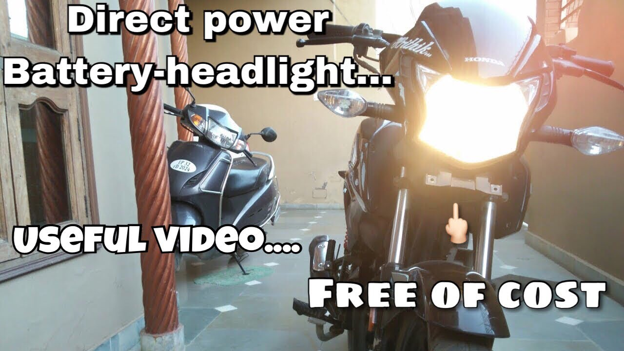 How to connect the headlights