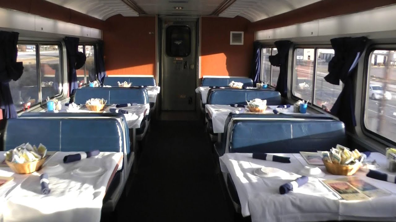 Amtrak Superliner dining car on California Zephyr
