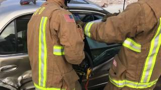National City Fire Respond to Two vehicle traffic collision