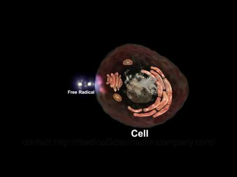 free radical unpaired electron antioxidant 3d medical animation company studio 3d visualization heal