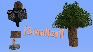 Extremely SMALL Auto Tree Farm! (only 5 blocks) | Minecraft
