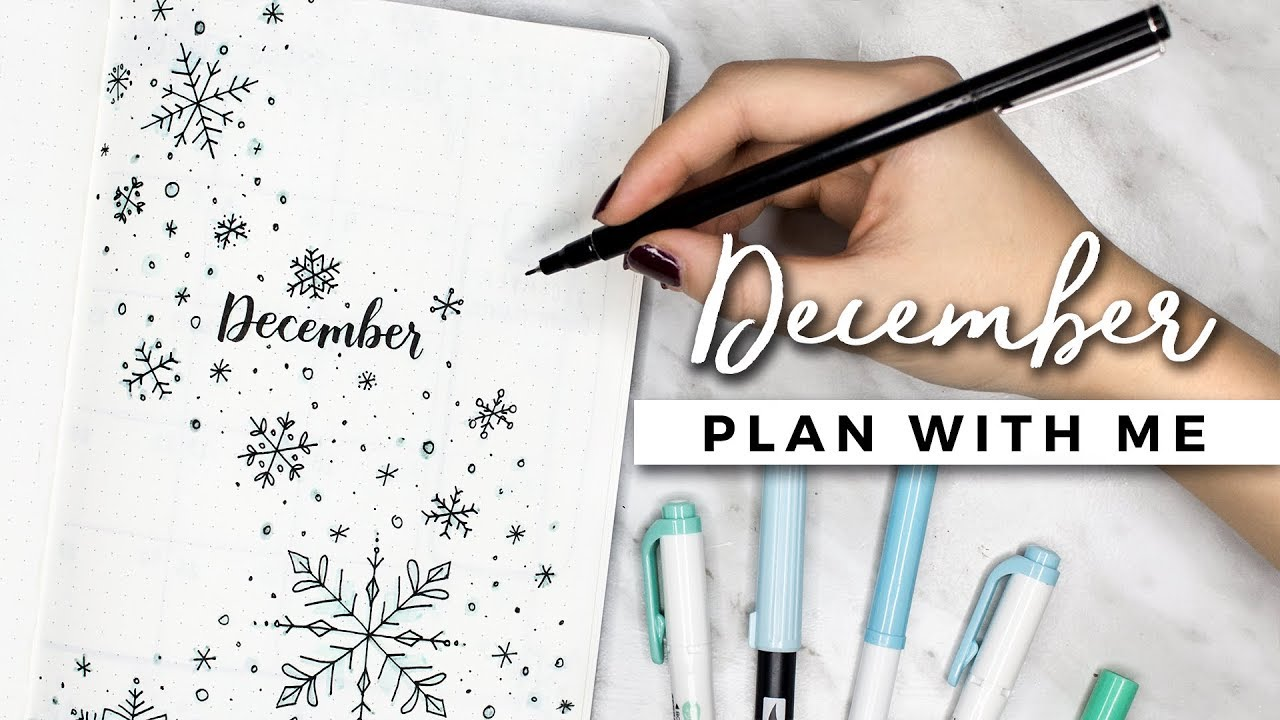 Plan With Me December 2017 Bullet Journal Setup Youtube