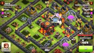Clash of Clans aj (MINIONMASTER) from Bonbee Canada 2 stared a full maxed base with 120 minions.