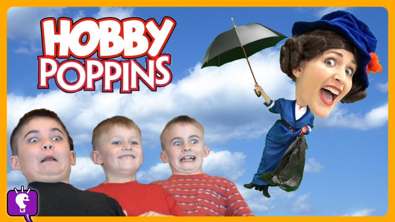 HobbyPoppins ADVENTURE! CRASHES Into HobbyHouse! Songs and Dancing by HobbyKidsTV