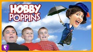 HobbyPoppins ADVENTURE! CRASHES Into HobbyHouse! Songs and Dancing by HobbyKidsTV