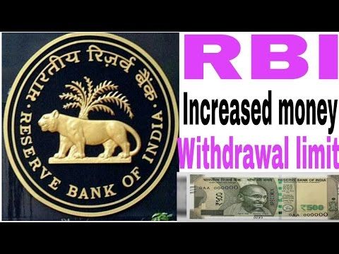 RBI increased money withdrawal limit   Good News for public [hindi/urdu] !! HINDI MEDIA WORK