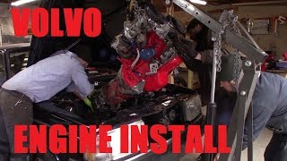 Volvo 240 Engine and Transmission Install