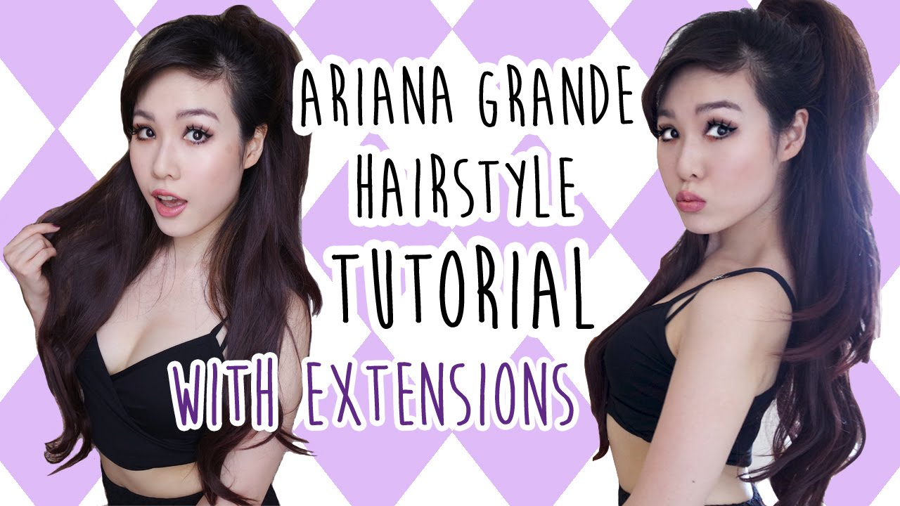 Hair Tutorial Ariana Grande Half Ponytail Hairstyle With Extensions