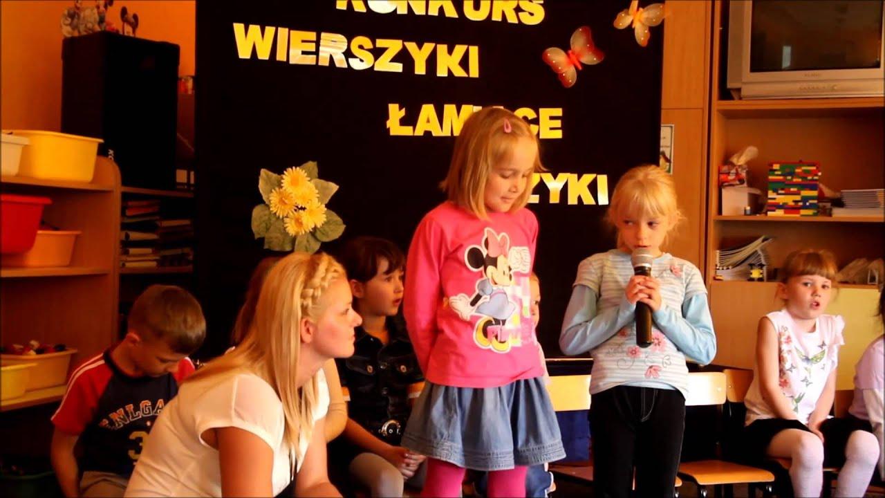 Wierszyki łamiące Języki Logopedyczny Konkurs Recytatorski W Przedszkolu Miejskim W Lubawie