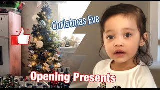 Opening Christmas Gifts Early Morning with Szanna on Christmas Eve  Family Blogs and Unboxing 2019