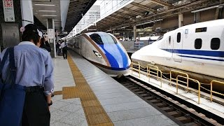 北陸新幹線 はくたか563号 (W7系運行) 超広角車窓 進行左側 東京~飯山~富山・金沢
