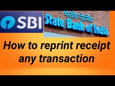 how to reprint recepit of any transaction | sbi mops print payment receipt & see transactions.