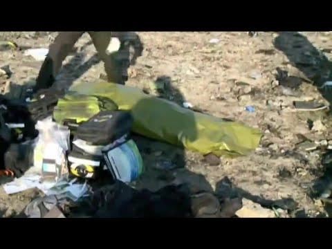 На месте крушения украинского самолёта МАУ в Иране