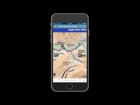 Lower Eagle River Digital GPS Mobile Fishing Map
