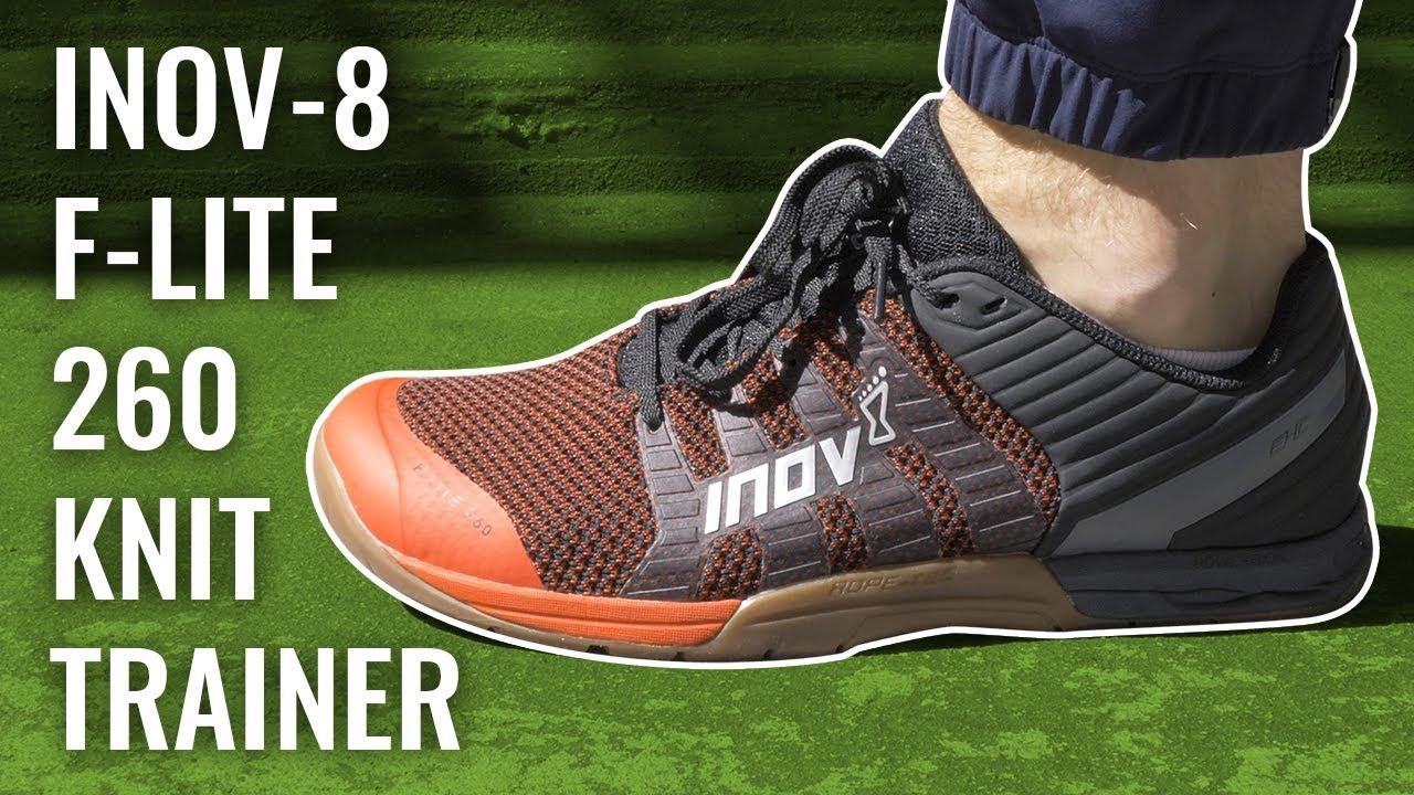 Brown Green Sports Inov8 Mens F-Lite 260 Knit Training Gym Fitness Shoes