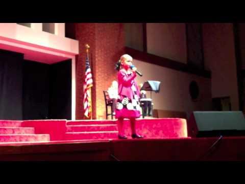 "Sarah singing ""Ordinary Girl"" - Kehrs Mill Elementary School talent show."