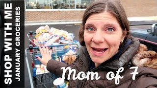 January Groceries SHOP WITH ME | Budgeting and Planning For the Month