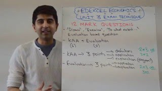 Edexcel Economics A2 Unit 3 - 12 Marker Exam Technique