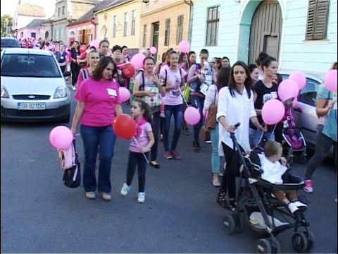 Circa 200 participanti la Marsul roz de la Medias | novatv.ro