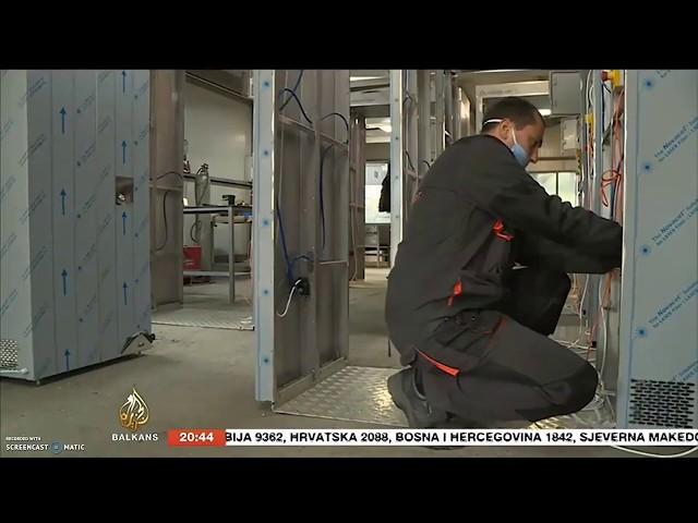 Corten Art tunel za dezinfekciju   Dezinfekcioni tunel Al Jazeera