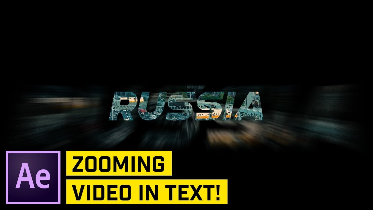 ZOOM Through Text INTRO or TRANSITION Effect After Effects CC