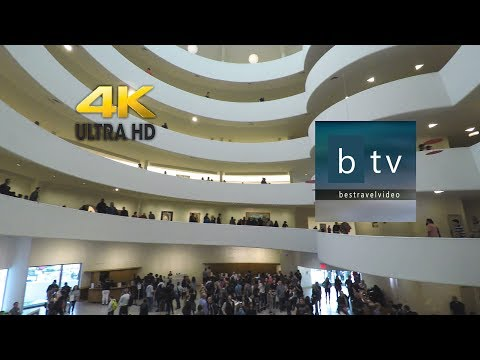 Solomon R. Guggenheim Museum New York City: A walk inside, in 4K.