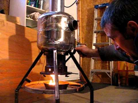 Waste oil heater pat 39 s youtube Burning used motor oil for heat