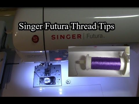 Singer Futura Thread Feeding Setup Tips YouTube Simple How To Thread A Singer Futura Sewing Machine
