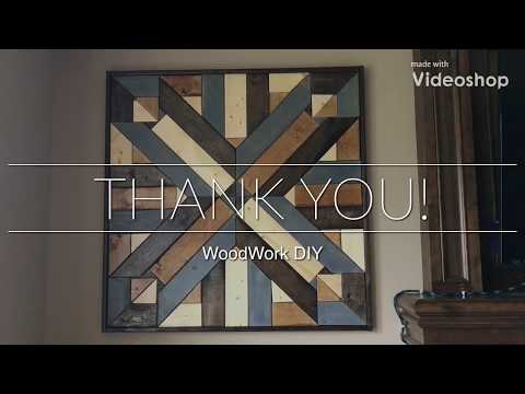 DIY Large Wood Wall Decor (With Drawings) by WoodWork DIY for under $40 (Idiot-Proof)