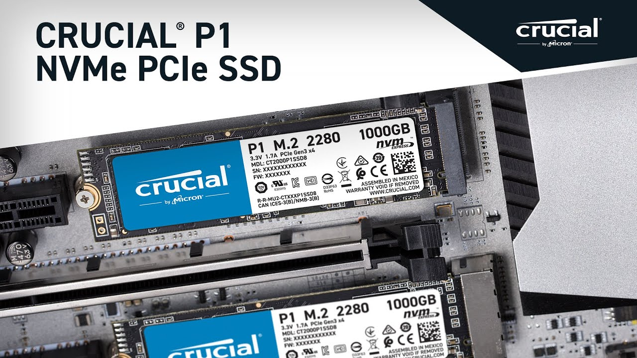 Crucial P1 500GB 3D NAND NVMe PCIe M 2 SSD