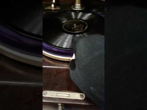 Antique Silvertone wind up record player