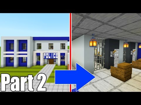 """Minecraft Tutorial: How To Make A Police Station Part 2 """"2019 City Tutorial"""""""