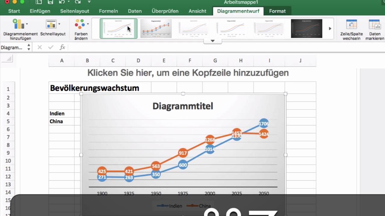 Excel 2016 Mac  42 Diagramm Erstellen