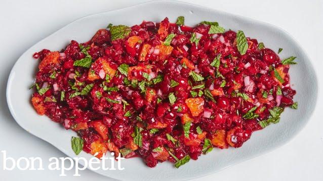 No Cook Thanksgiving Cranberry-Orange Relish | Bon Appetit