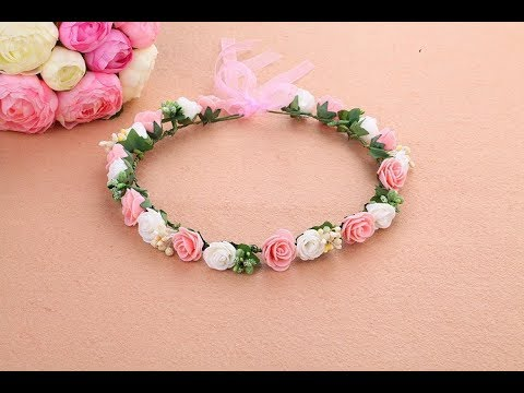 Fastest way to make a flower crown with paper step by easy