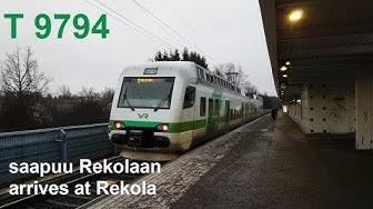 T-juna 9794 saapuu Rekolan asemalle | T line train 9794 arrives to Rekola station