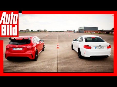 Video Mercedes Amg A 45 Vs Bmw M2 751 Ps Im 14 Meile Duell