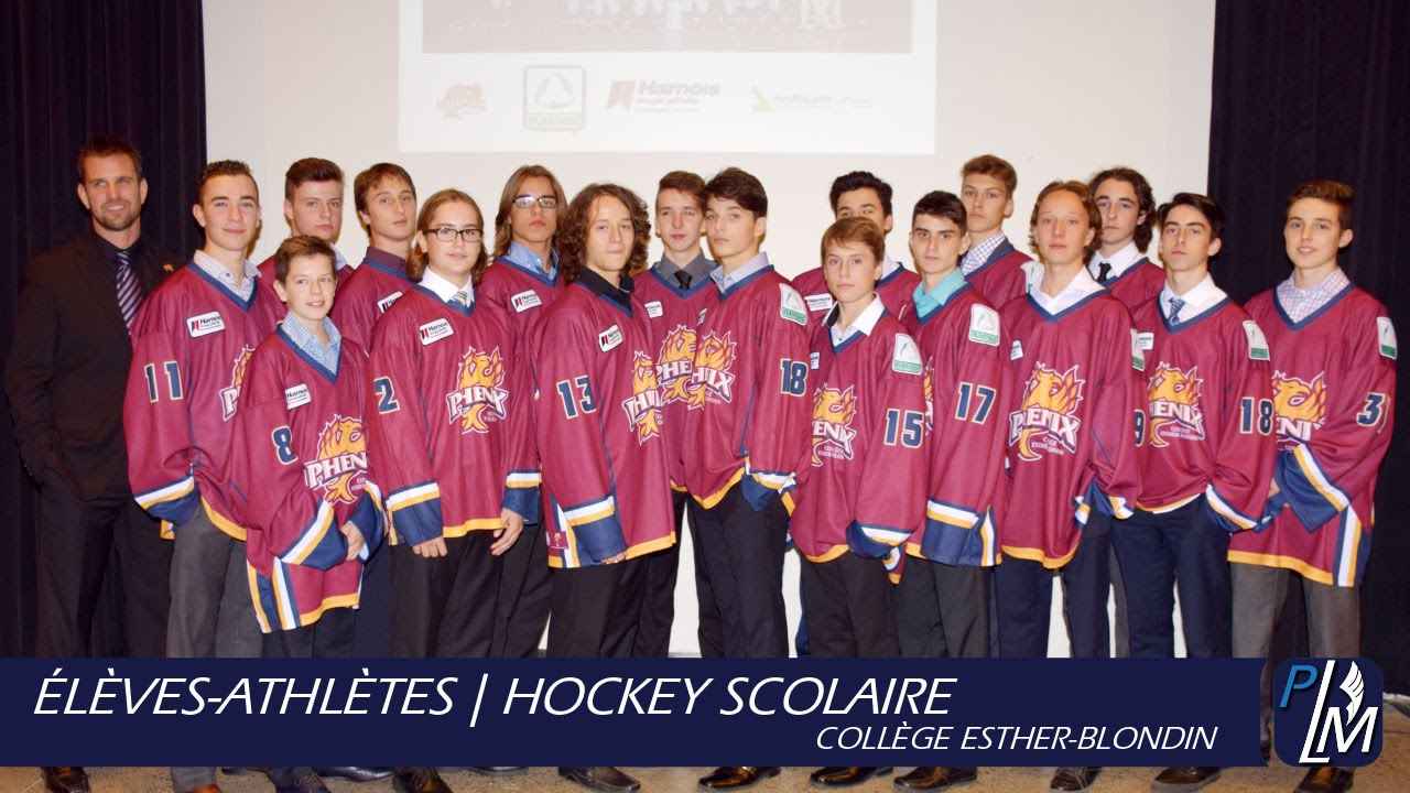 l ves athl tes hockey scolaire coll ge esther blondin