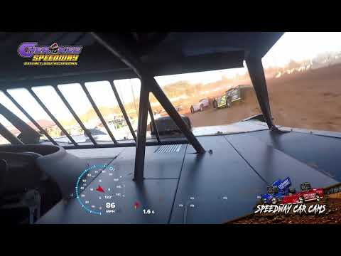 #F1 Payton Freeman - Super Late Model - Heat & Feature - 1-26-20 Cherokee Speedway - In-Car Camera