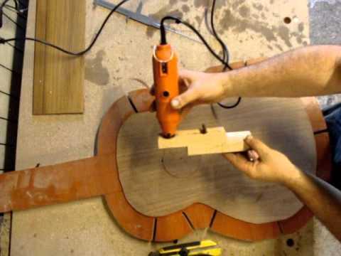 cutting sound hole