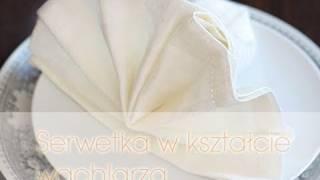 Serwetka wachlarz - Jak złożyć serwetkę w stojący wachlarz | DOROTA.iN