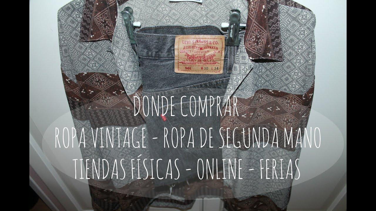 D nde comprar ropa vintage ropa de segunda mano tiendas f sicas online ferias youtube Baules de segunda mano
